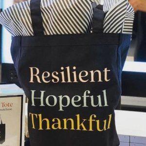 NEW Sephora Resilient Hopeful Thankful Tote